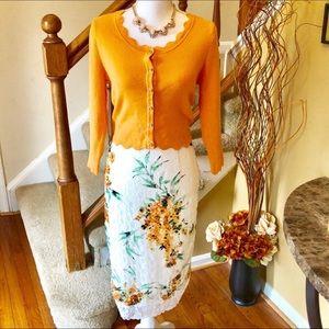 Eva Mendes Midi Lace Skirt Only